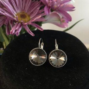 Gray Gem Earrings